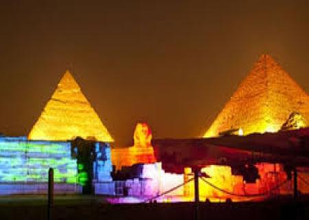 Sphinx at sound and light show